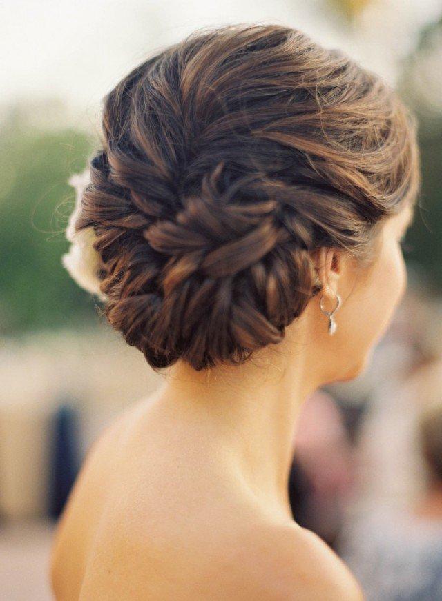 Pretty Braided Hairstyle for Wedding