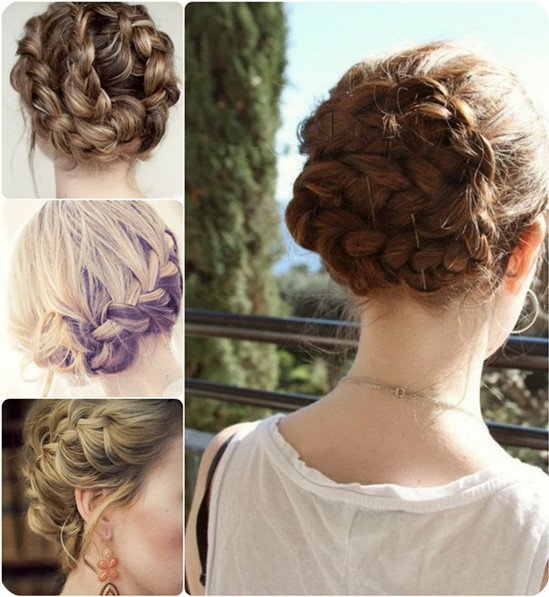 Pretty Braided Updo for Holiday