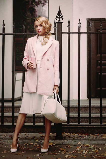 Pretty Coat Outfit Idea for Winter