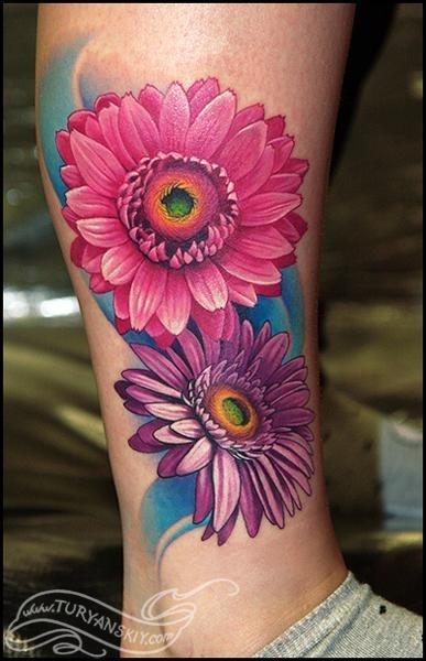 Pretty Daisy Tattoos
