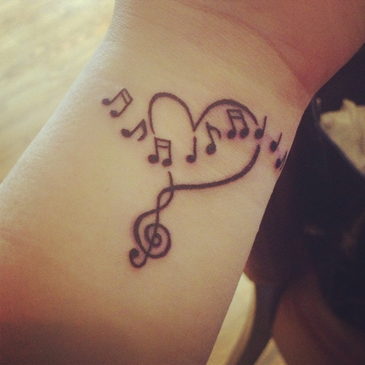 15 music tattoo designs for this winter pretty designs. Black Bedroom Furniture Sets. Home Design Ideas