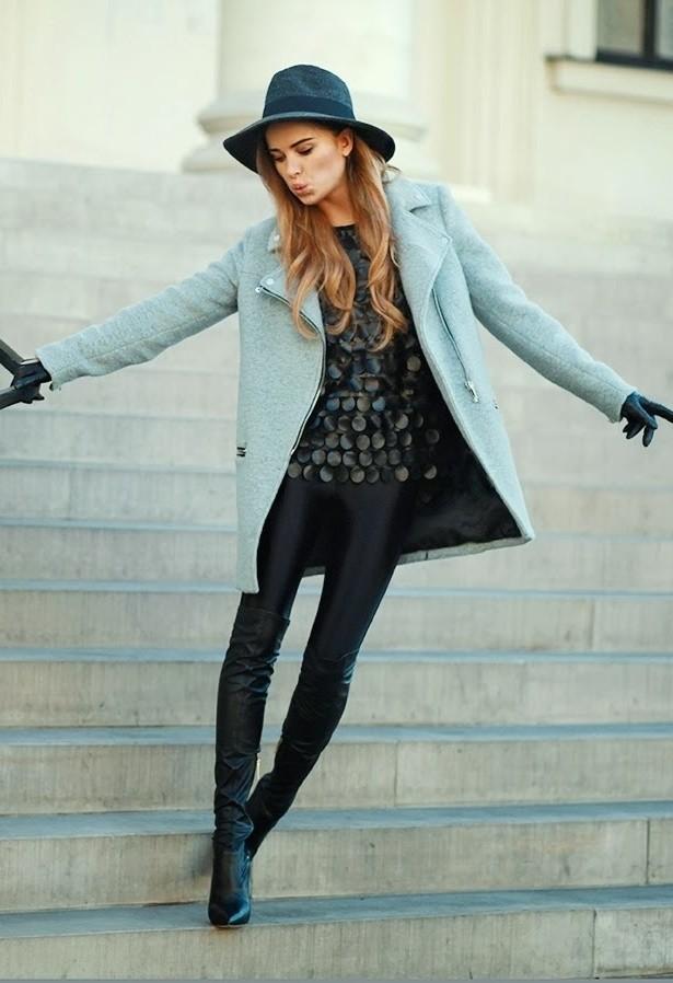Pretty Pastel Blue Coat Outfit Idea