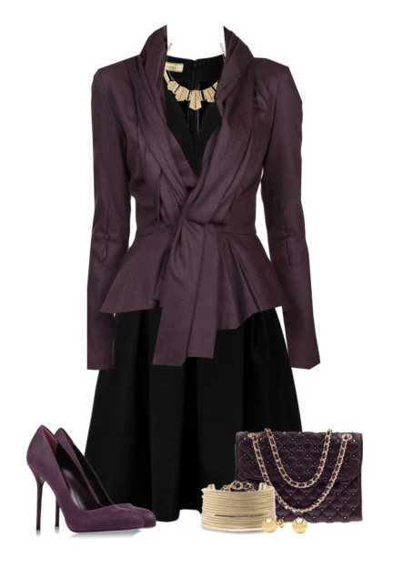 Purple Outfit Idea for Holiday