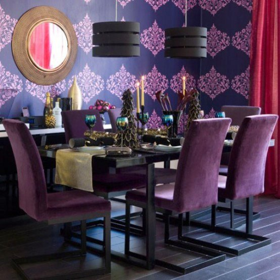 Purple Table Decoration