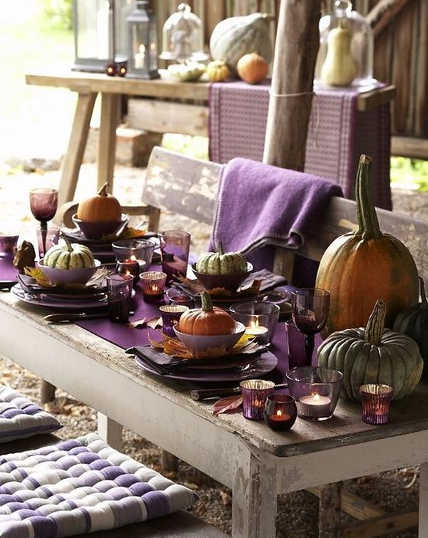 Outdoor Table Decorating For Thanksgiving Day Pretty Designs