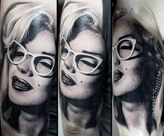 Realism Woman Tattoo On the Arm