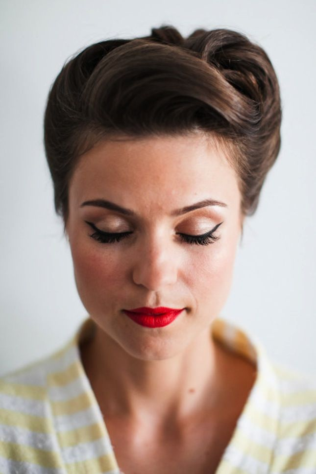 Retro Inspired Wedding Updo Hairstyle