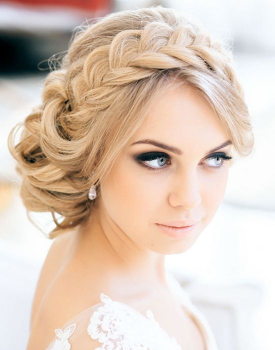Retro Wedding Hairstyle With Braids