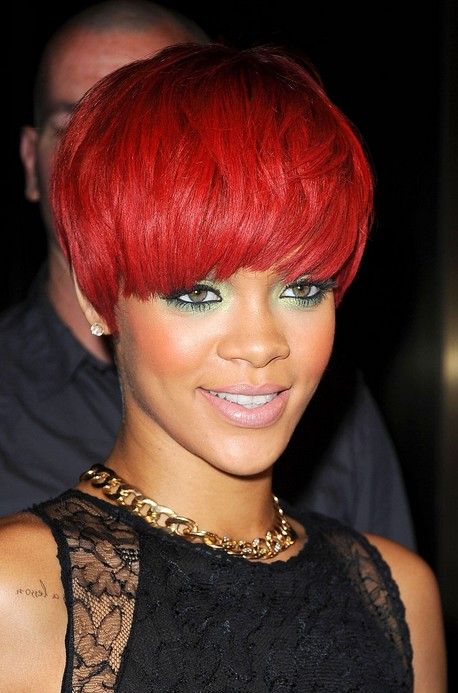 Rihanna Short Red Hairstyles for Women