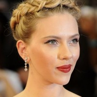 Scarlett Johansson Braided Hair