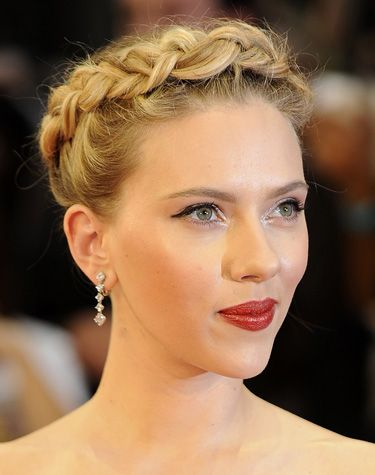 Scarlett Johansson Braided Hair