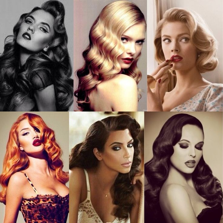 Sensual Retro Curls Hairstyle