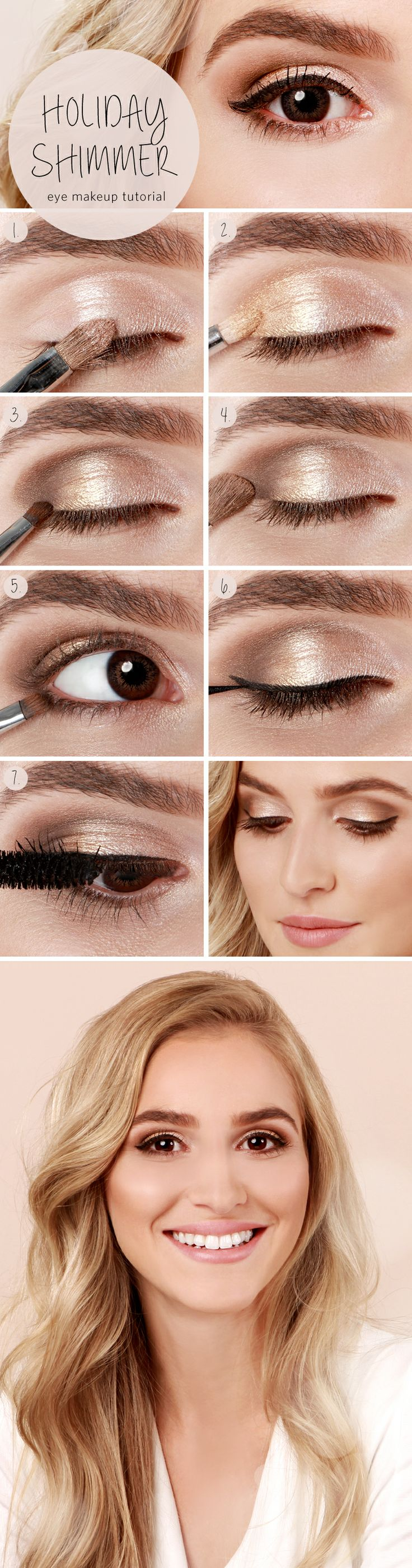 Shimmery Holiday Eye Makeup
