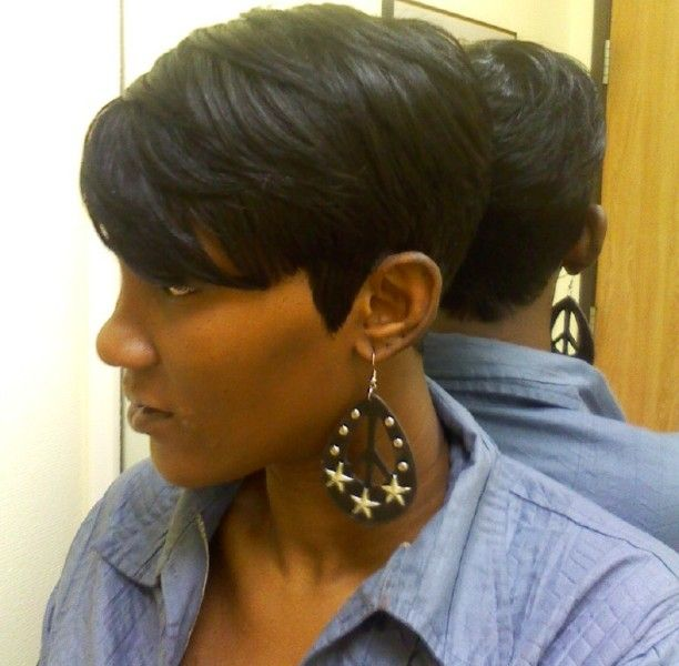 Short Bob Hairstyle for Black Women/Pinterest