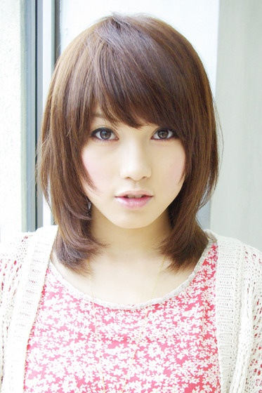 Short Layered Asian Hairstyle With Bangs
