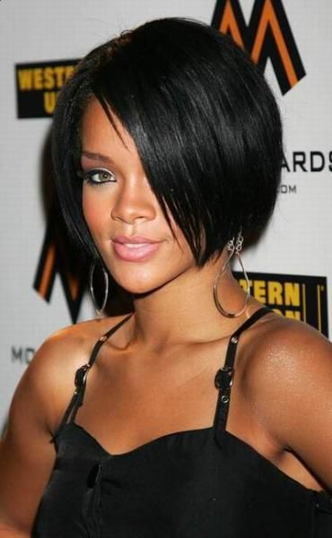 Short Straight Bob Hairstyle for Black Women