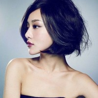 Short Wavy Asian Hairstyle