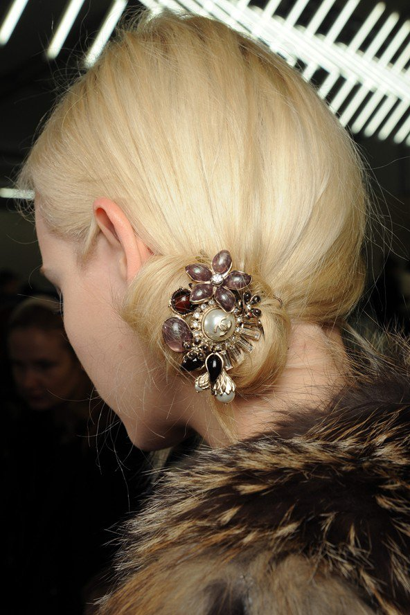 Side Bun with A Embellishment