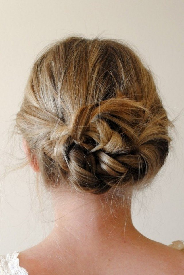 Simple Braided Updo Hairstyle