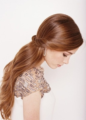 Simple Half Up Wedding Hairstyle