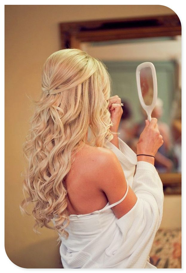Simple Pinned Up Wedding Hairstyle