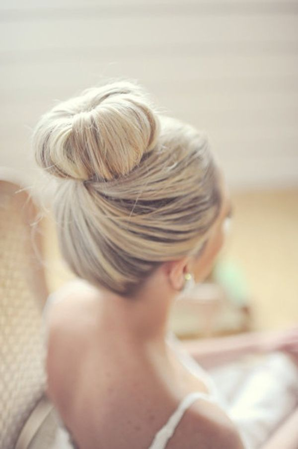 Simple Wedding Bun Hairstyle/Pinterest