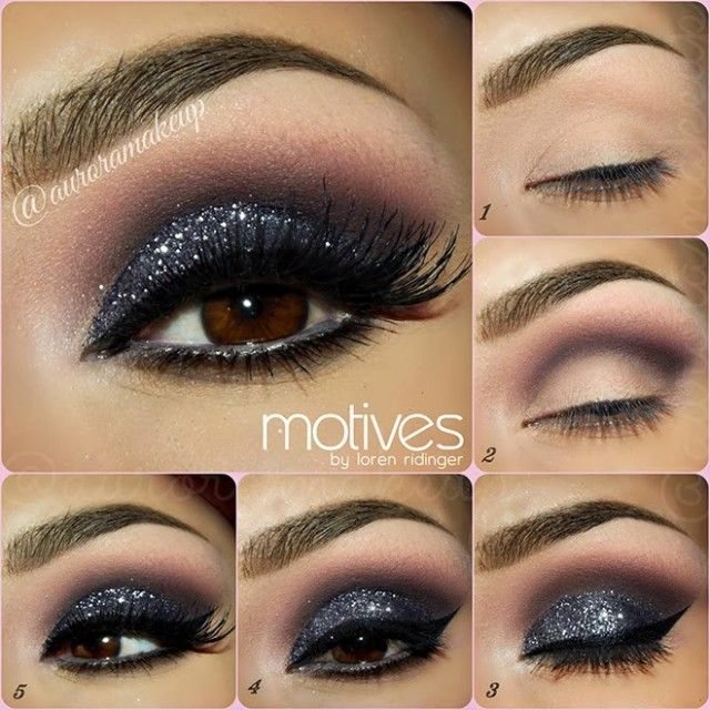 Smoky Shimmer Eye Makeup Idea Demi Lovato Emo Night