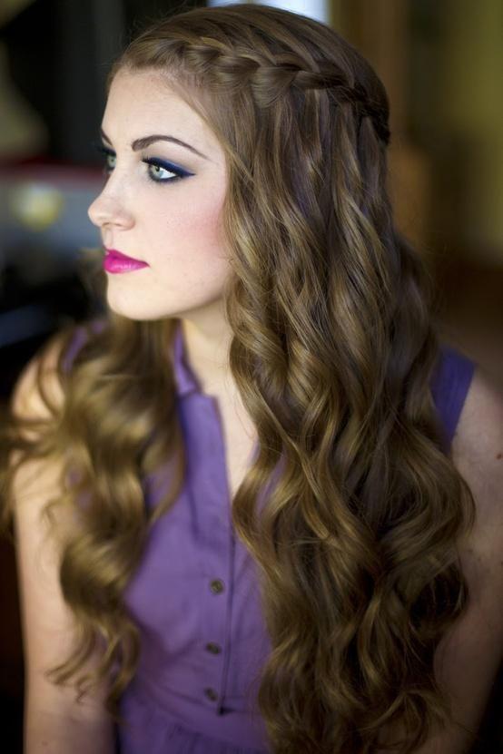 Stunning Waterfall Braid for Brown Hair