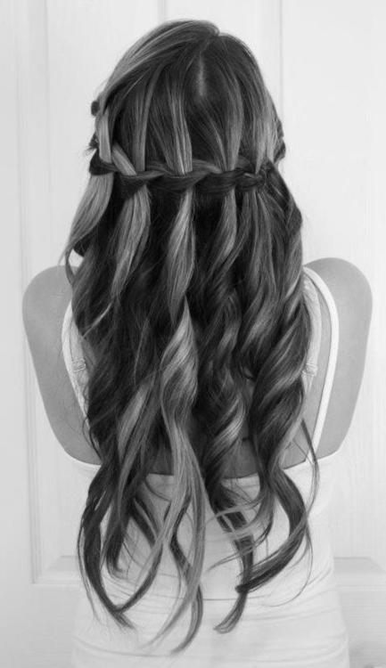 Stunning Waterfall Braid for Wedding Hairstyles