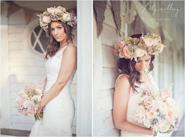 Gorgeous Floral Crown Hairstyle Ideas For Romantic Brides Pretty - Wedding hairstyle romantic with flowers