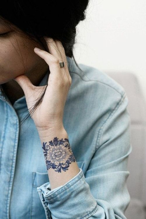 Stunning Wrist Flower Tattoo