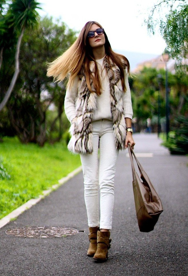 Stylish Fur Vest for Fall