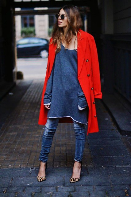 Stylish Red Coat for Winter