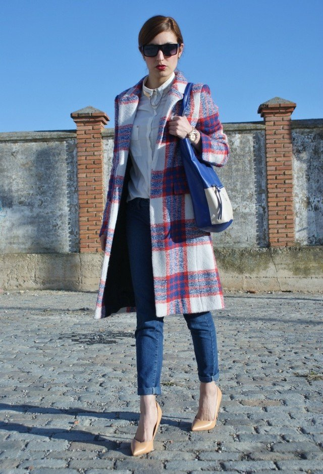 Stylish Tartan Coat Outfit