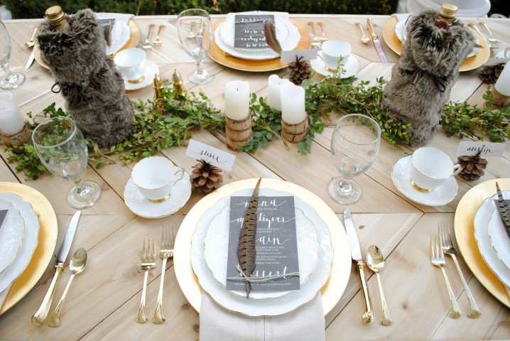 Stylish Thanksgiving Table