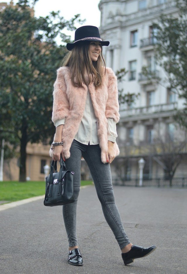 Stylish Winter Outfit with Fur Coat