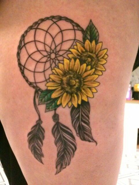 Sunflower Dreamcatcher Tattoo