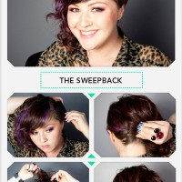Sweep-back Hairstyle with Bobby Pins
