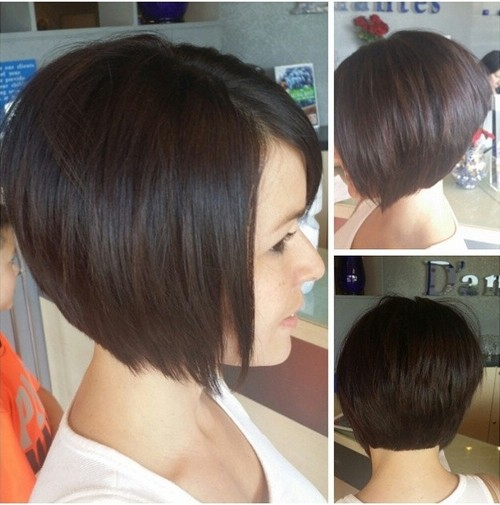 Sweet Dark Bob Haircut
