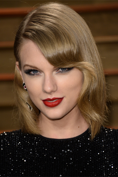 Taylor Swift Blonde Long Bob