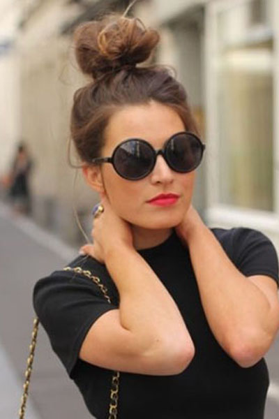 Cool 16 Pretty And Chic Top Knots For 2015 Pretty Designs Short Hairstyles Gunalazisus
