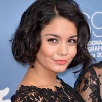 Vanessa Hudgens Short Curly Bob Hairstyle for Women