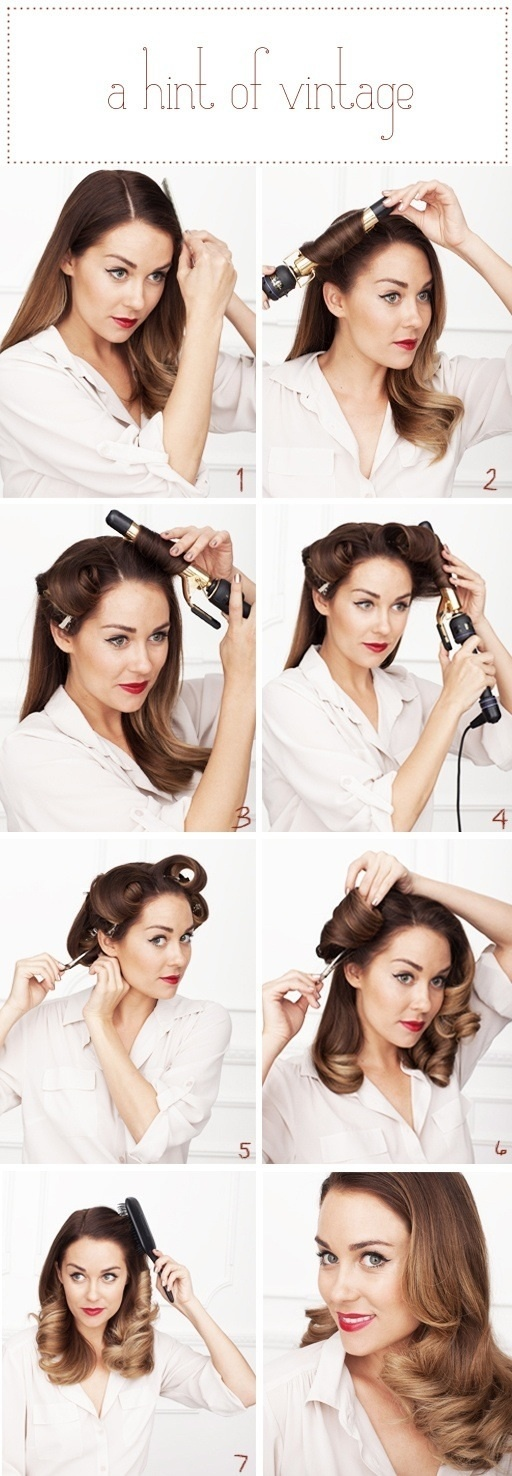 20 Stylish Retro Wavy Hairstyle Tutorials and Hair Looks ...