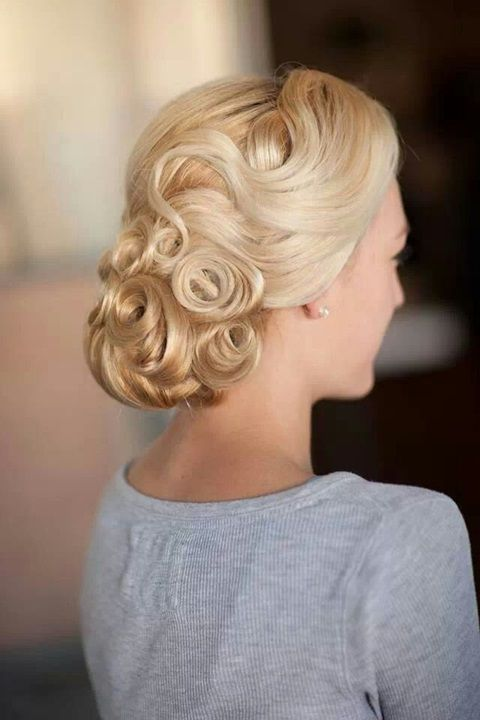 Vintage Styled Wedding Updo