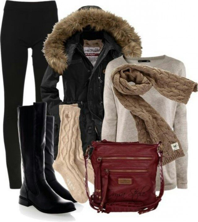 Warm Outfit Idea for Winter