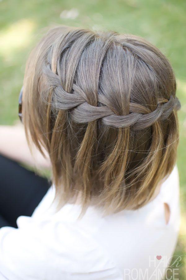 Waterfall Braided Bob Hairstyle