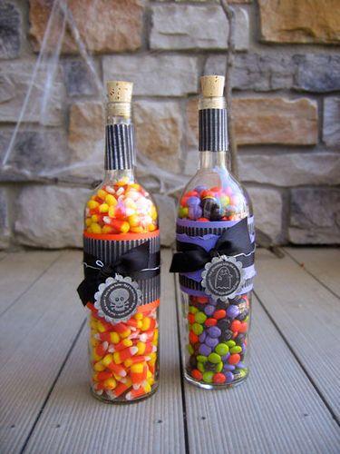 Wine Bottle Candy Storage