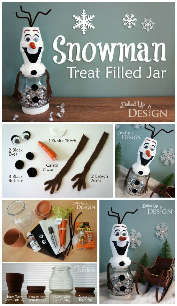Winter Candy Jars