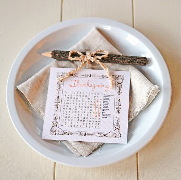 Word Search Place Cards