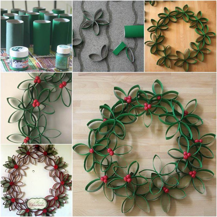 Wreath with Paper Rolls